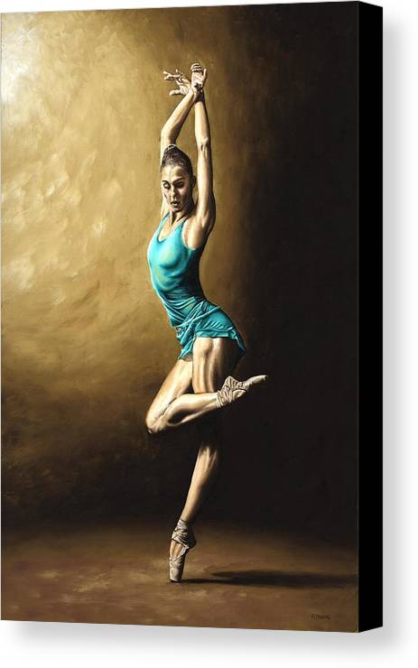 Dance Canvas Print featuring the painting Ardent Dancer by Richard Young