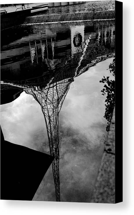 Art Centre Canvas Print featuring the photograph Art Centre by Win Naing