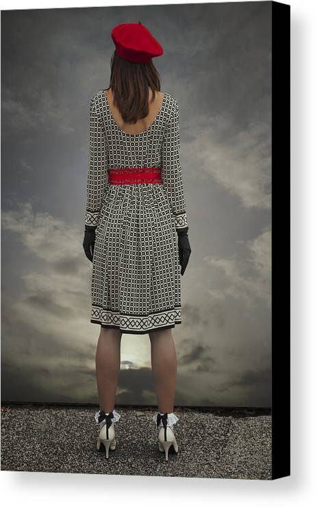 Woman Canvas Print featuring the photograph At The Edge by Joana Kruse