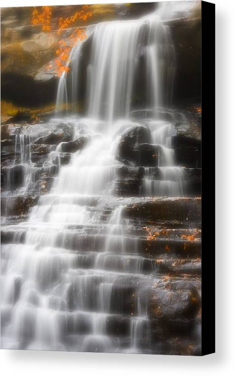 Autumn Canvas Print featuring the photograph Autumn Waterfall II by Kenneth Krolikowski