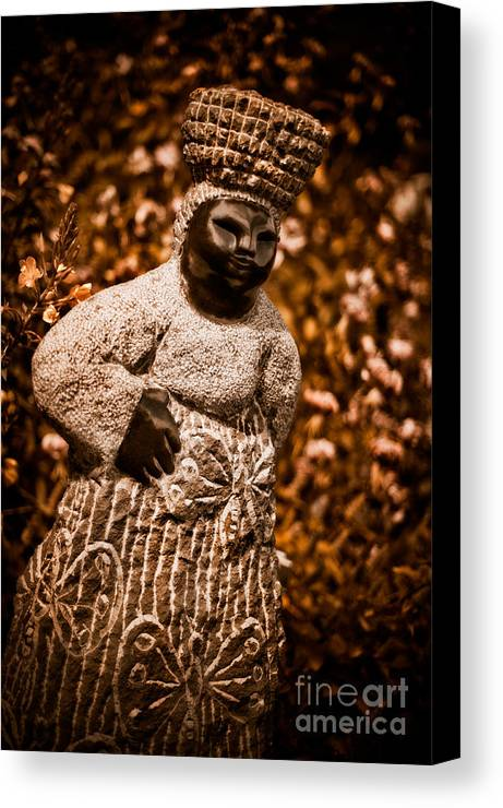 Art Canvas Print featuring the photograph Back From The Market by Venetta Archer