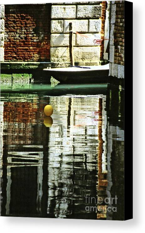 Venice Canvas Print featuring the photograph Ball On A Canal In Venice by Michael Henderson
