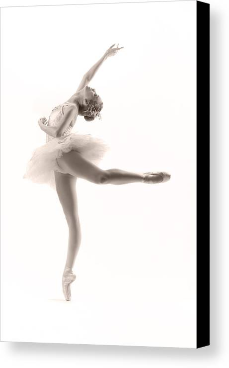 Ballerina Canvas Print featuring the photograph Ballerina by Steve Williams