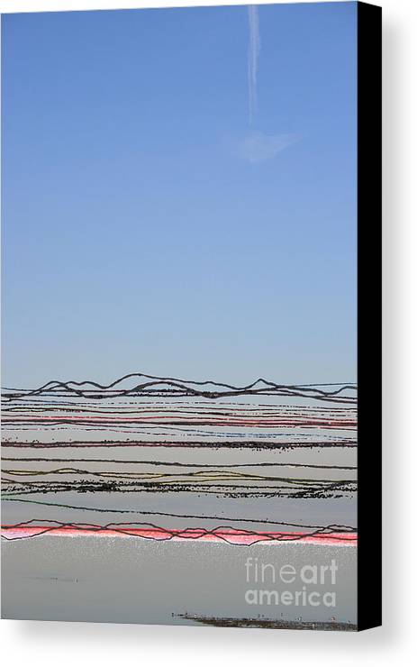 Bay Canvas Print featuring the photograph Bay Lines by Andy Mercer