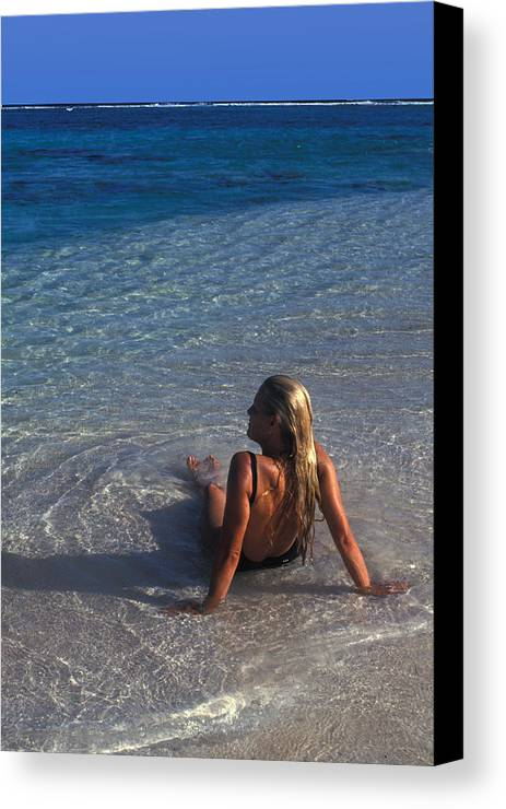 Beautiful Canvas Print featuring the photograph Beach At Little Cayman by Carl Purcell
