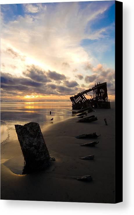 Landscape Canvas Print featuring the photograph Beach Bones by Jennifer Owen