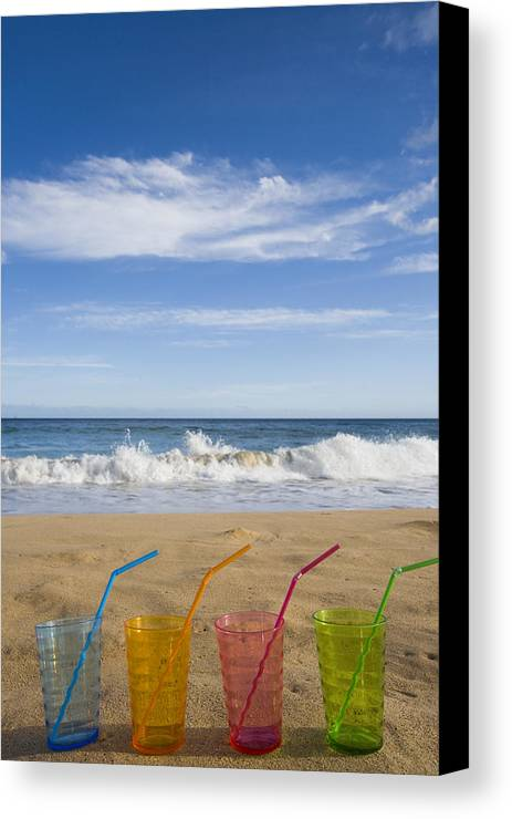 Color Canvas Print featuring the photograph Beach Party by Karen Ulvestad