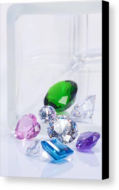 Allure Canvas Print featuring the jewelry Beautiful Jewel by Atiketta Sangasaeng