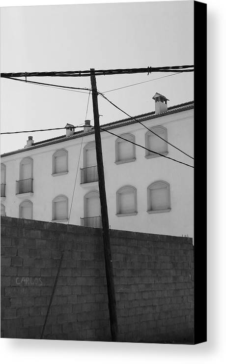 Photographer Canvas Print featuring the photograph Behind These Walls by Jez C Self