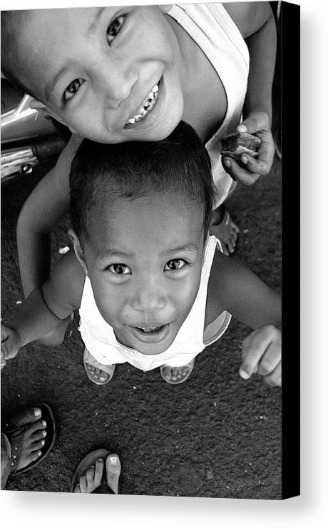 Photographer Canvas Print featuring the photograph Being Kids 2 by Jez C Self