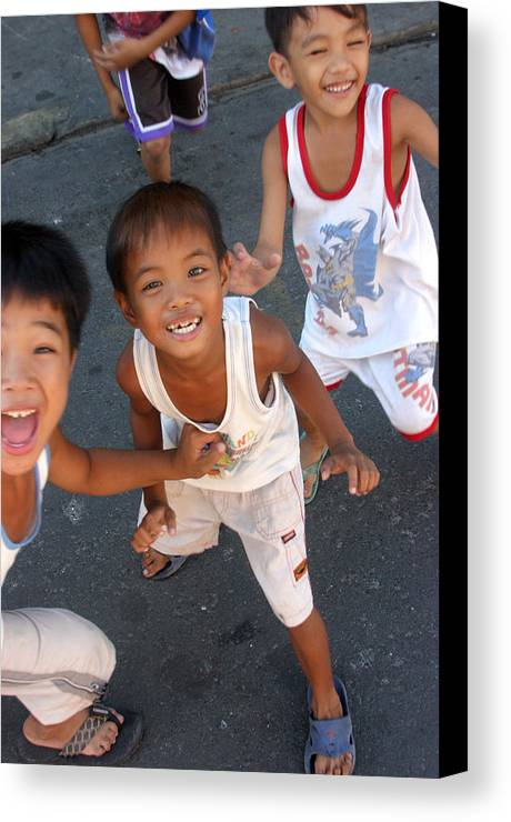 Photographer Canvas Print featuring the photograph Being Kids 7 by Jez C Self
