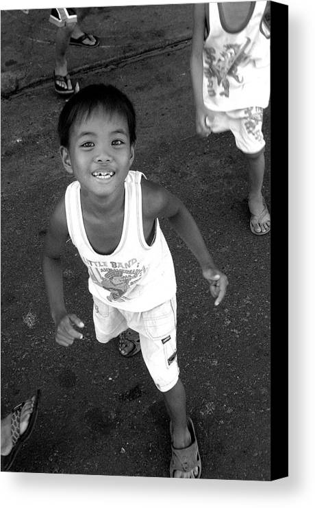 Photographer Canvas Print featuring the photograph Being Kids 8 by Jez C Self
