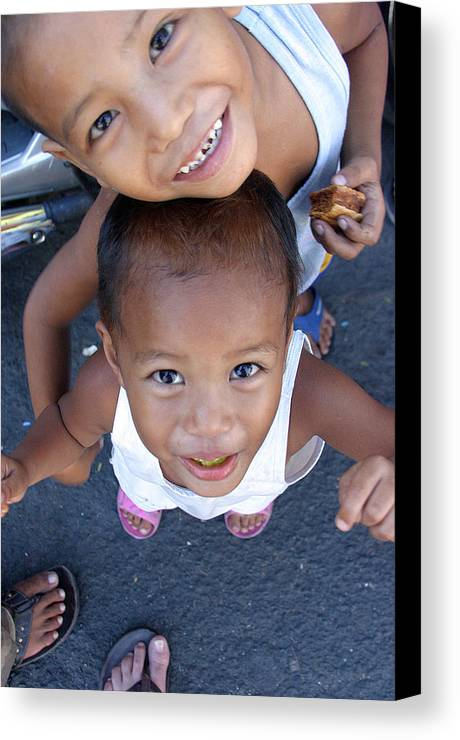 Photographer Canvas Print featuring the photograph Being Kids by Jez C Self