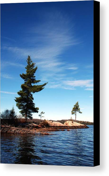 Canoe Lake Algonquin Park Canvas Print featuring the photograph Being Together by David Hickey