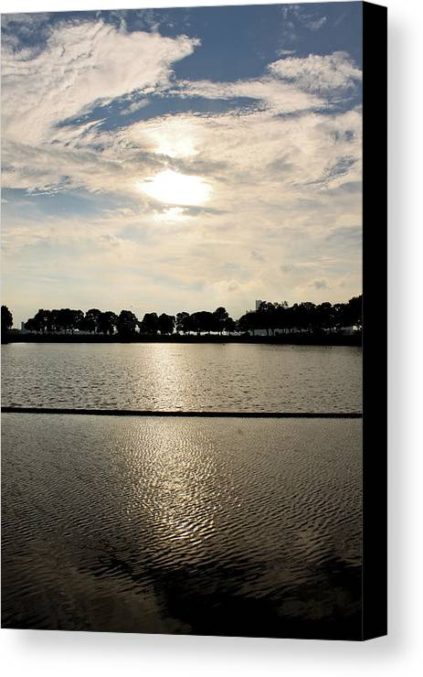 Lake Canvas Print featuring the photograph Belle Isle Lake by Stephen Crosson