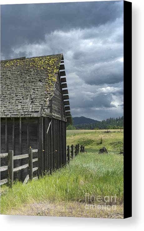 Big Sky Canvas Print featuring the photograph Big Sky Cabin by Sandra Bronstein