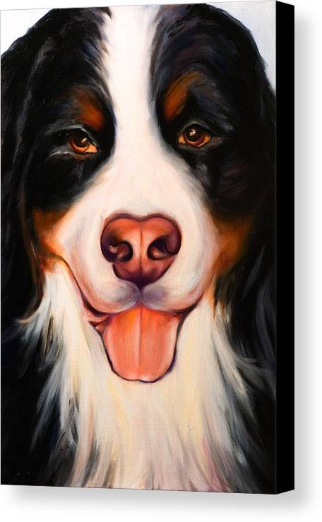 Dog Canvas Print featuring the painting Big Willie by Shannon Grissom