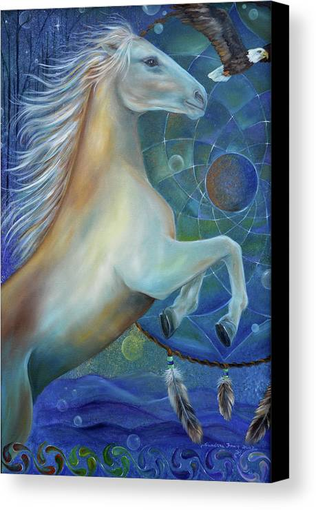 Horse Canvas Print featuring the painting Birth Of Freedom by Sundara Fawn