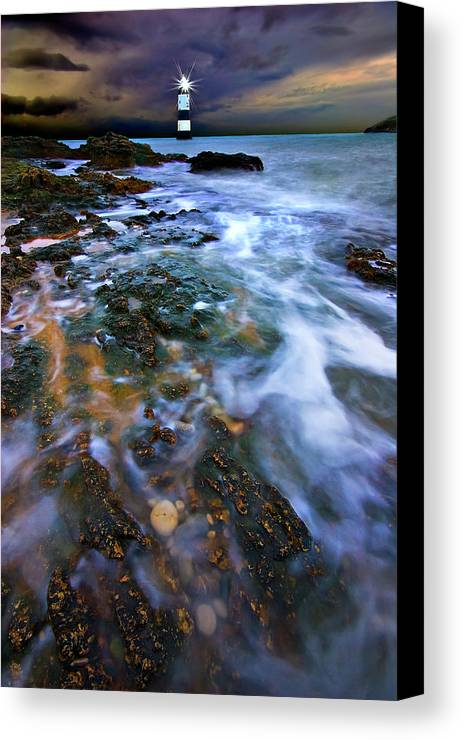 Uk Canvas Print featuring the photograph Black Point Light by Meirion Matthias