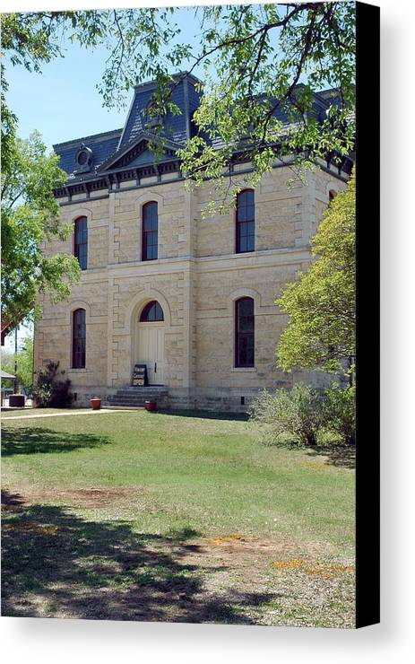 Blanco Canvas Print featuring the photograph Blanco Courthouse by Robert Anschutz