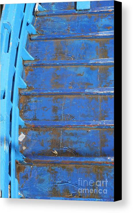 Venice Canvas Print featuring the photograph Blue Boat In Venice by Michael Henderson