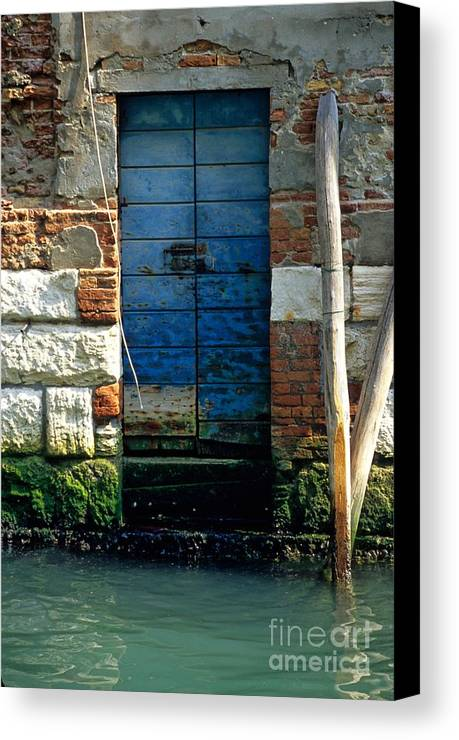 Venice Canvas Print featuring the photograph Blue Door In Venice by Michael Henderson