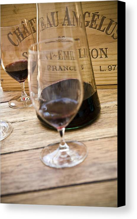 Frank Tschakert Canvas Print featuring the photograph Bordeaux Wine Tasting by Frank Tschakert