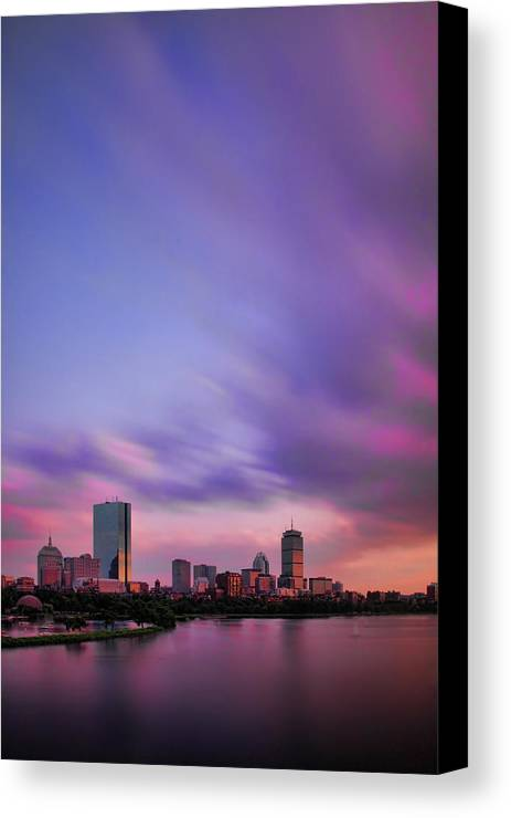 Boston Canvas Print featuring the photograph Boston Afterglow by Rick Berk