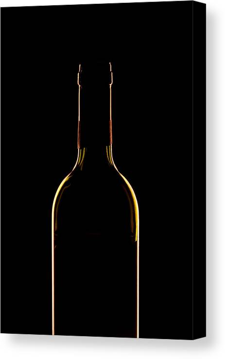 Wine Canvas Print featuring the photograph Bottle Of Wine by Andrew Soundarajan