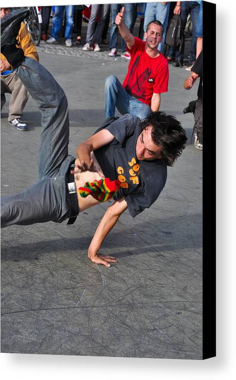 Dance Canvas Print featuring the photograph Break Dancer - Color by Noah Cole