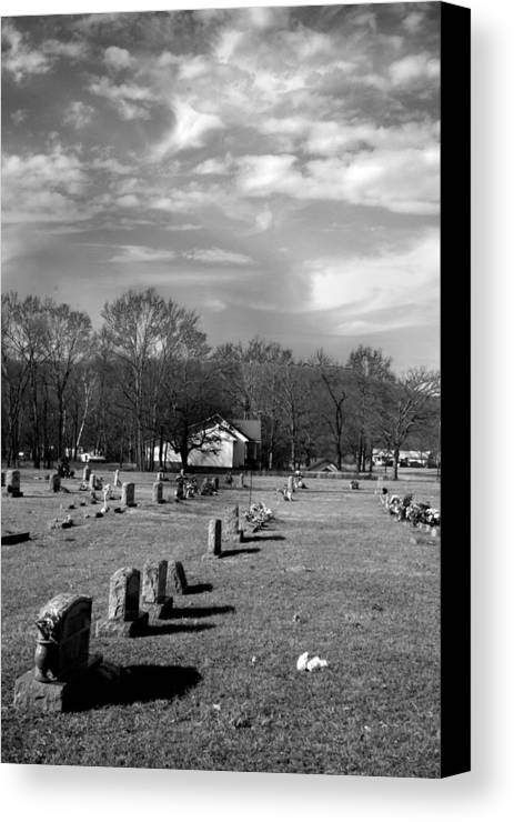 Ansel Adams Canvas Print featuring the photograph Brentway-cemetery by Curtis J Neeley Jr