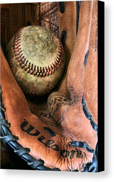 Baseball Canvas Print featuring the photograph Broken In by JC Findley