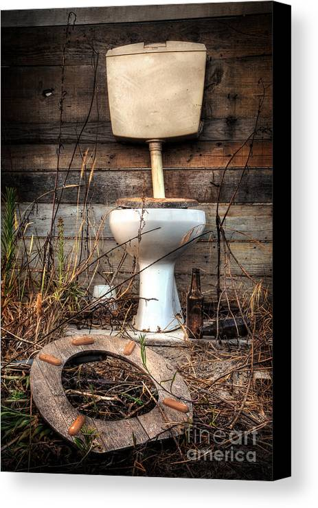 Abandoned Canvas Print featuring the photograph Broken Toilet by Carlos Caetano