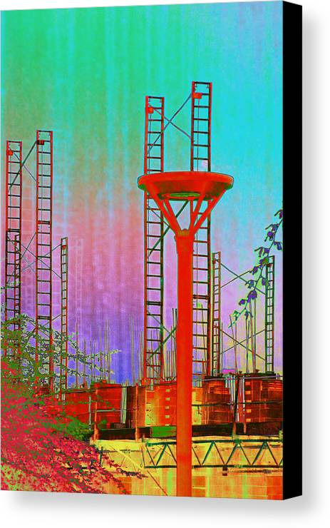 Construction Canvas Print featuring the photograph Building In The Southwest by Richard Henne