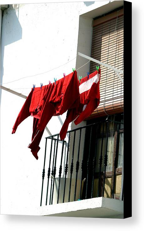 Photographer Canvas Print featuring the photograph Cafe Clothing 2 by Jez C Self