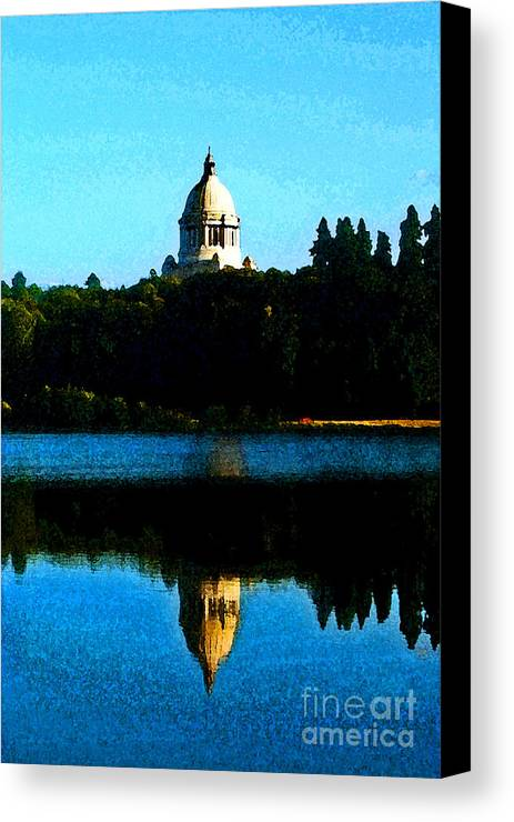 Lake Canvas Print featuring the photograph Capital Lake by Larry Keahey
