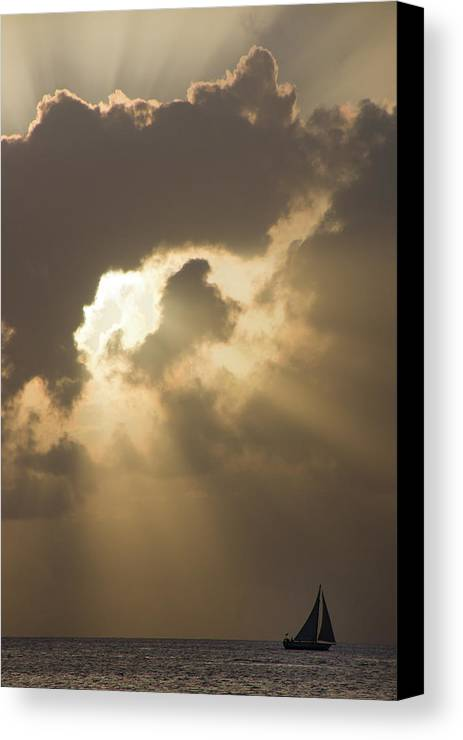 America Canvas Print featuring the photograph Caribbean Skies And Light 2 by Riccardo Forte