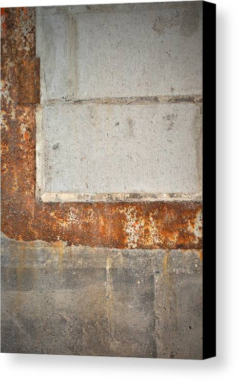 Architecture Canvas Print featuring the photograph Carlton 14 - Abstract Concrete Wall by Tim Nyberg