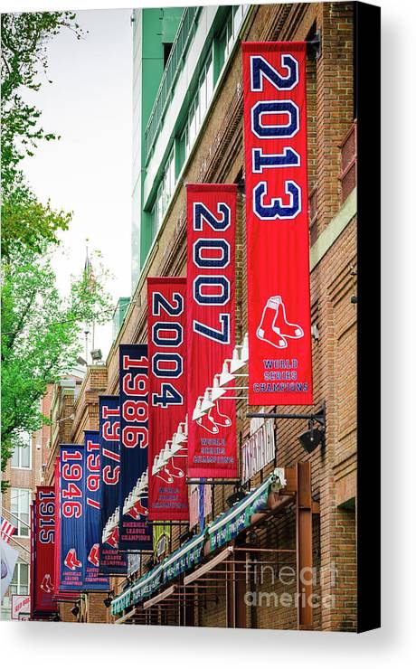 Red Sox Canvas Print featuring the photograph Champs Again by Mike Ste Marie