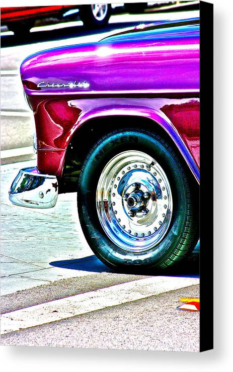 Chevy Canvas Print featuring the photograph Chevy by Jeremy Stewart