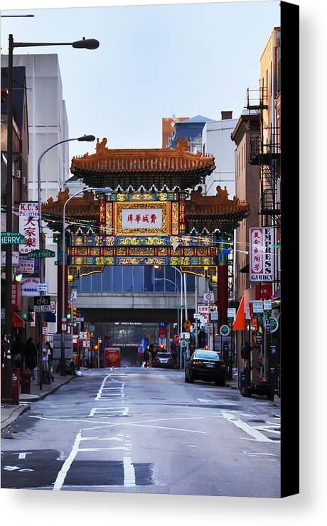 Chinatown Canvas Print featuring the photograph Chinatown - Philadelphia by Bill Cannon