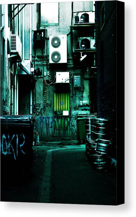 Air Conditioner Canvas Print featuring the photograph Clandestine by Andrew Paranavitana