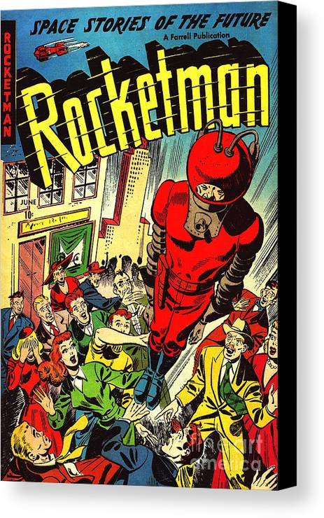 Classic Comic Book Cover Prints : Classic comic book cover rocketman june canvas print