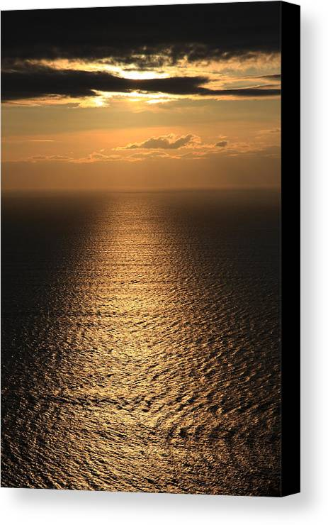Cliffs Of Moher Canvas Print featuring the photograph Cliffs Of Moher Sunset Co. Clare Ireland by Pierre Leclerc Photography