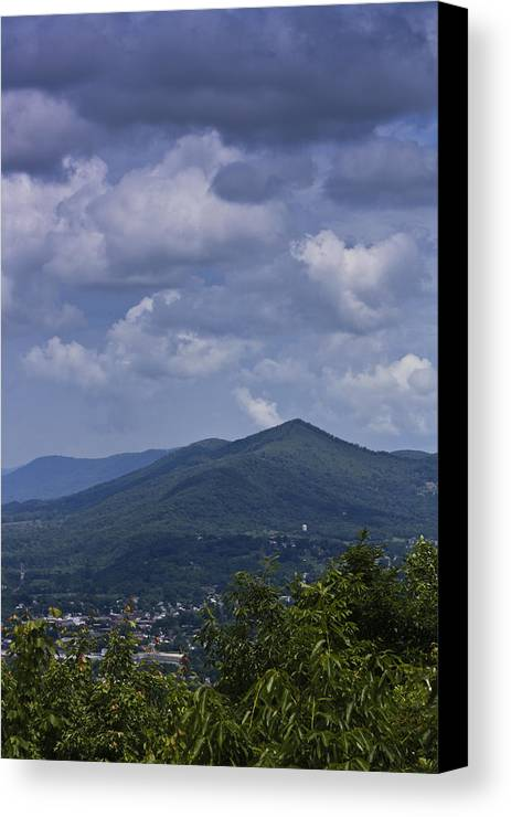 Roanoke Canvas Print featuring the photograph Cloudy Day In Virginia by Teresa Mucha