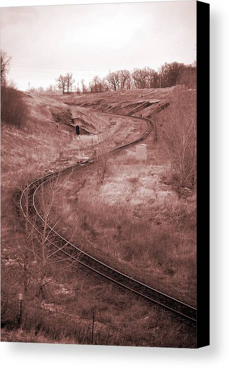 Coal Canvas Print featuring the photograph Coal Line S by Jame Hayes