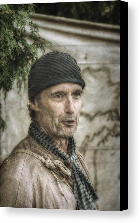 War Canvas Print featuring the digital art Colonial Frontiersman Portrait by Randy Steele