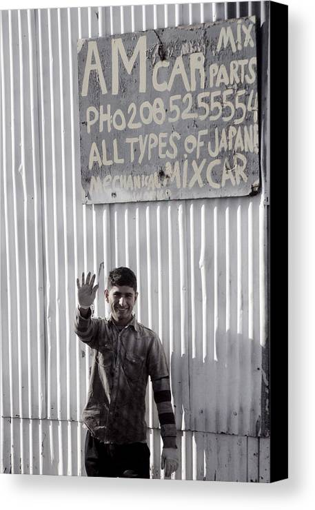 Jez C Self Canvas Print featuring the photograph Come On In by Jez C Self