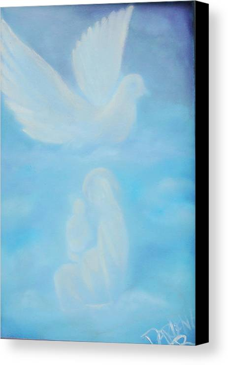 Dove Canvas Print featuring the painting Come Unto Me by Darlene Green