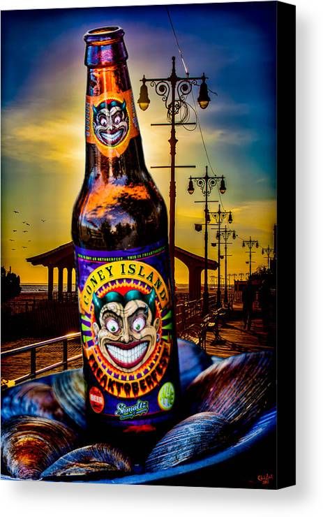 Beer Canvas Print featuring the photograph Coney Island Beer by Chris Lord